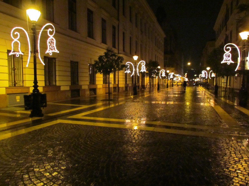 The streets of Budapest