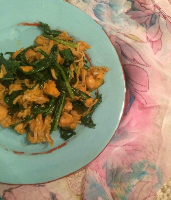 Healthy chickpea stir-fry