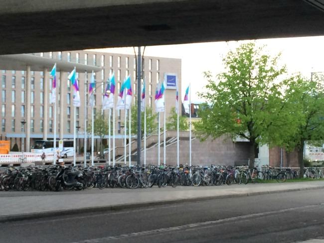 One of the bike racks in Freiburg