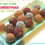 Christmas bliss ball truffles (raw, vegan, lowfat)