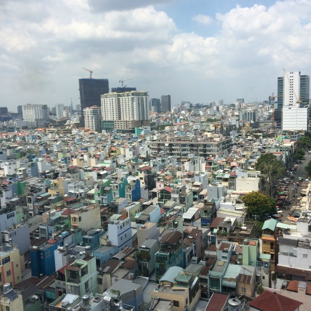 Ho Chi Minh City... best experienced from a distance where it looks tame