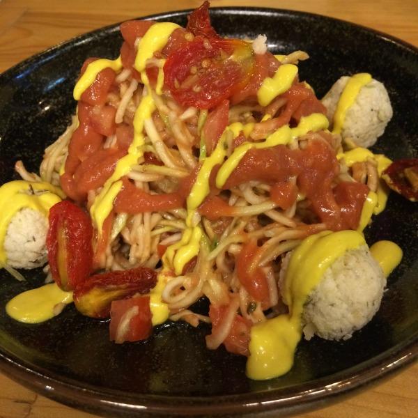 Raw vegan pasta Thai style