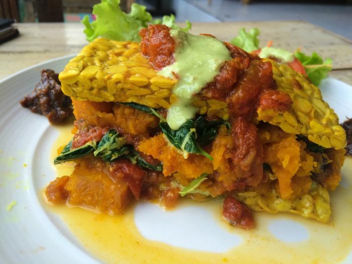 Tempeh Pumpkin Lasagna.. in Bali!