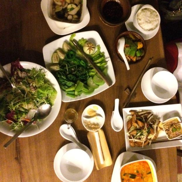 Hum Vegetarian dinner