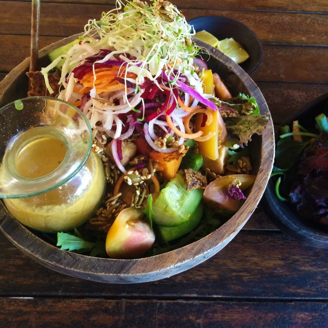 Raw vegan salad in Bali